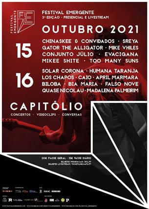 cartaz do Festival Emergente para outubro 2021